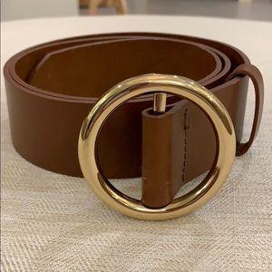 NWOT! Frame Brown Leather Belt-Medium